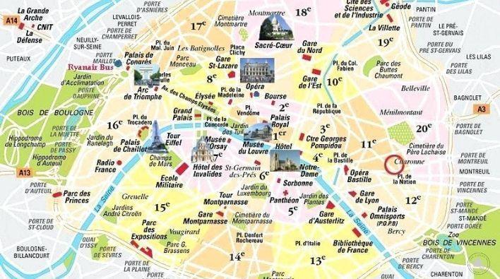 Mapa de París - Ser Viajera