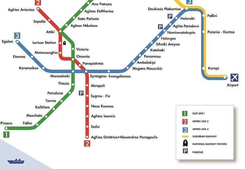 Transporte Público de Atenas Metro Bus #Atenas #Transporte #serviajera