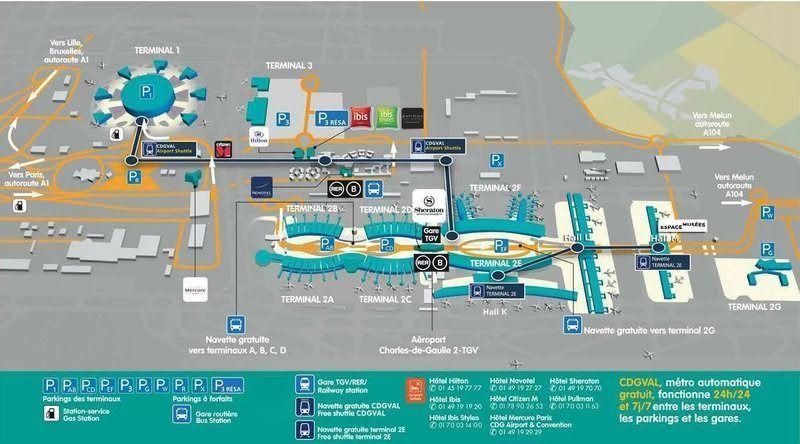 aeropuerto charles de gaulle mapa
