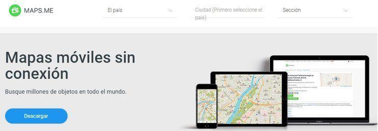 app mapa sin conexion