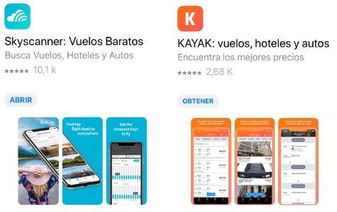 apps para buscar vuelos baratos