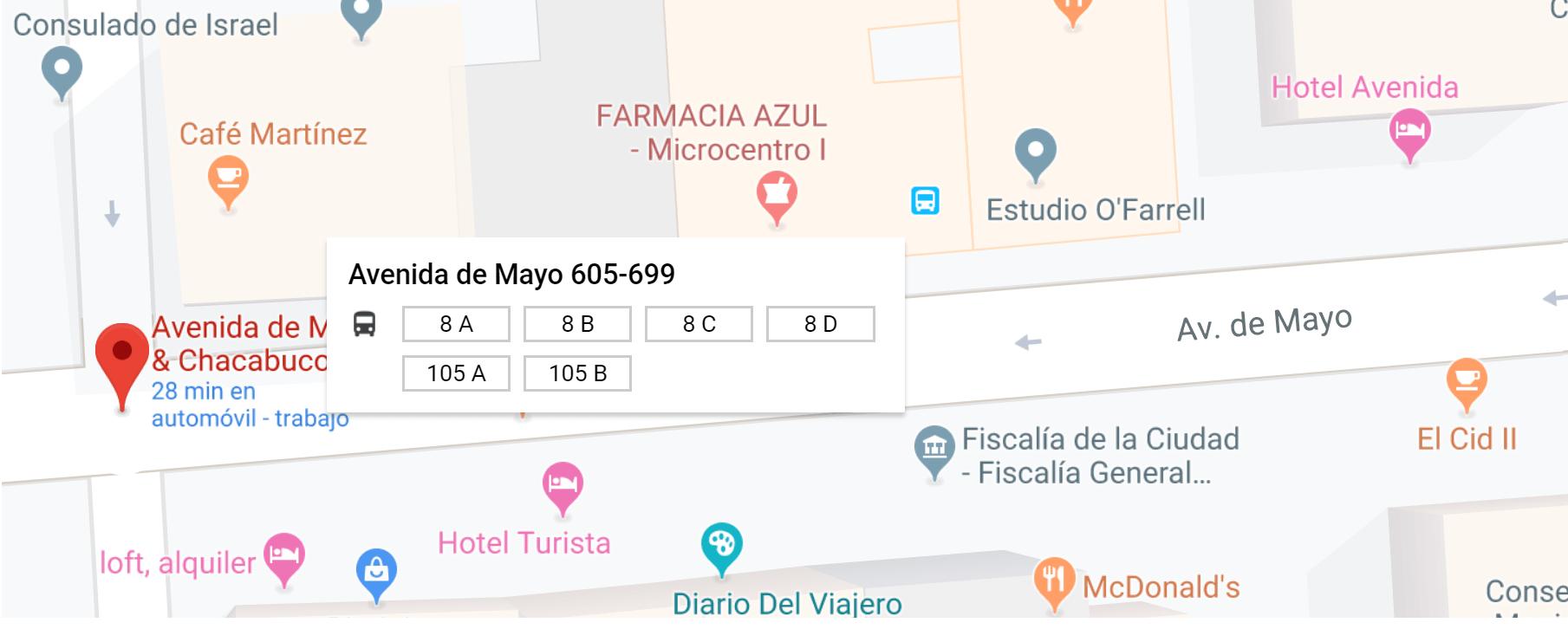 plaza de mayo linea 8