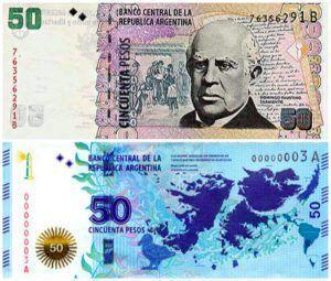 billetes de 50 pesos argentinos