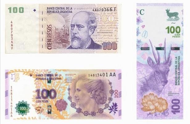 billetes de 100 pesos argentinos ser viajera