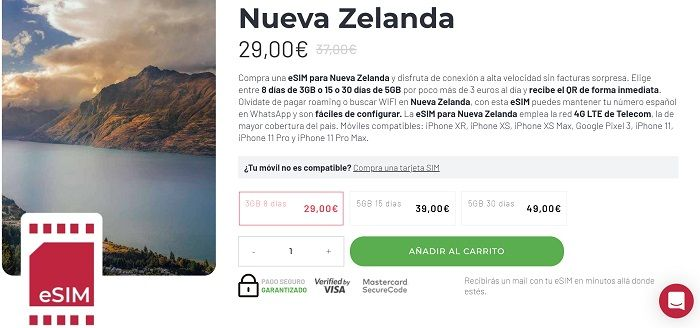 tarjeta virtual Nueva Zelanda HolaFly